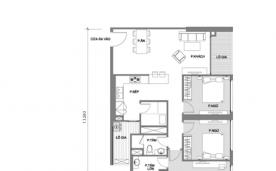 Mặt bằng căn hộ 3 phòng ngủ A2