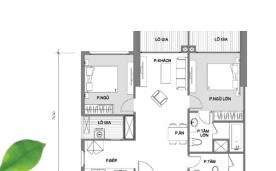 Mặt bằng căn hộ 2 phòng ngủ A2