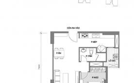 Mặt bằng thiết kế căn hộ 1 phòng ngủ A2