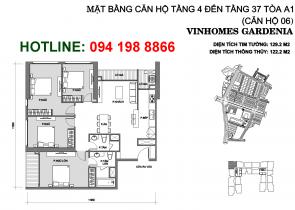 mat-bang-can-ho-A106-vinhomes-gardenia