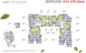 Mặt bằng thiết kế Tòa A2 – Vinhomes Gardenia