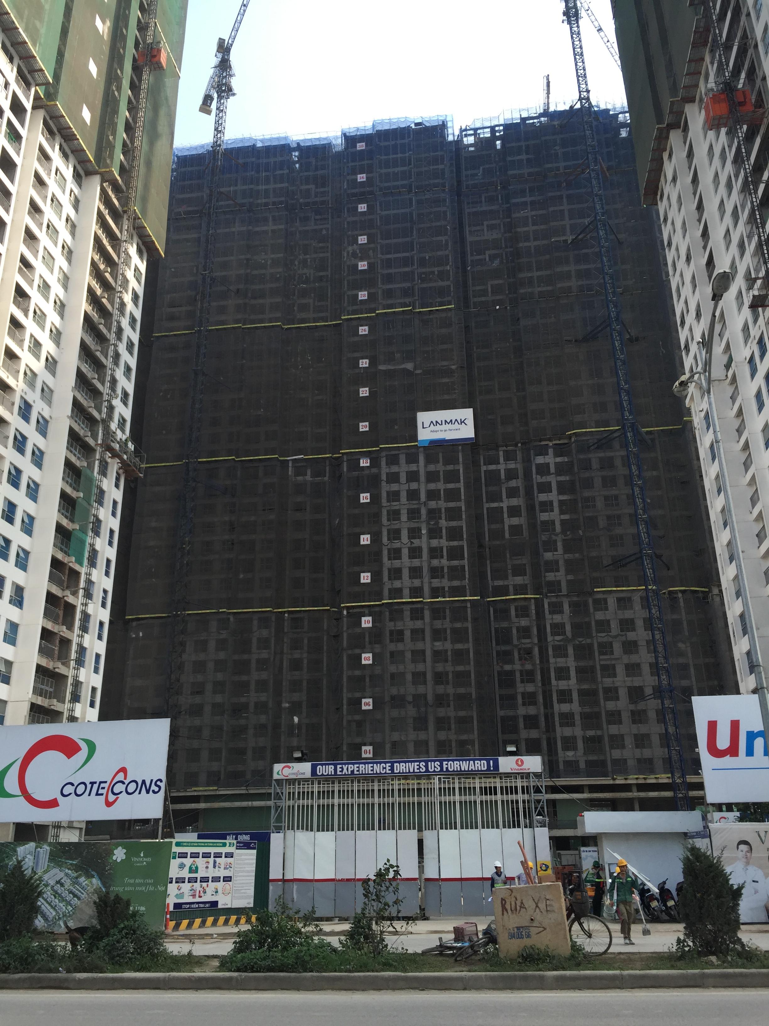 Hình ảnh nhìn trực diện tòa A3 của dự án